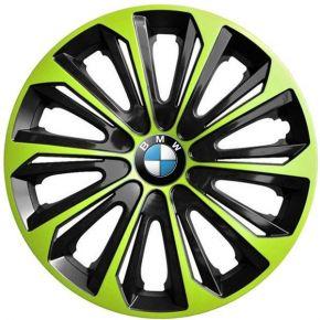 """Wieldoppen BMW 15"""", STRONG DUOCOLOR groen-zwart 4 stuks"""