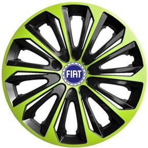"""Wieldoppen FIAT BLUE 16"""", STRONG DUOCOLOR groen-zwart 4 stuks"""