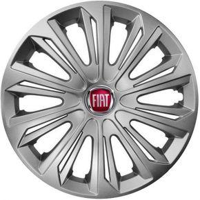 "Wieldoppen FIAT 15"", STRONG grijs 4 stuks"