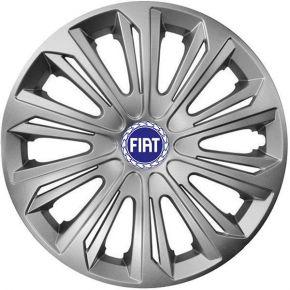 """Wieldoppen FIAT BLUE 15"""", STRONG grijs 4 stuks"""
