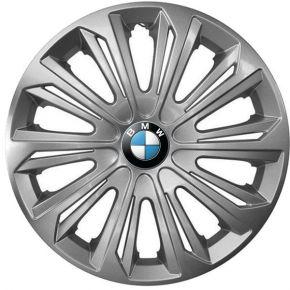 """Wieldoppen BMW 15"""", STRONG grijs gelakt 4 stuks"""