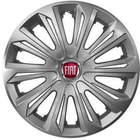"""Wieldoppen FIAT 15"""", STRONG grijs gelakt 4 stuks"""