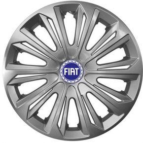 "Wieldoppen FIAT BLUE 15"", STRONG grijs gelakt 4 stuks"