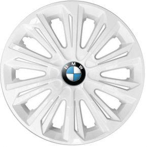 "Wieldoppen BMW 15"", STRONG wit gelakt 4 stuks"
